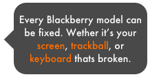 Every Blackberry model can be fixed. Wether it's your screen, trackball, or keyboard thats broken.